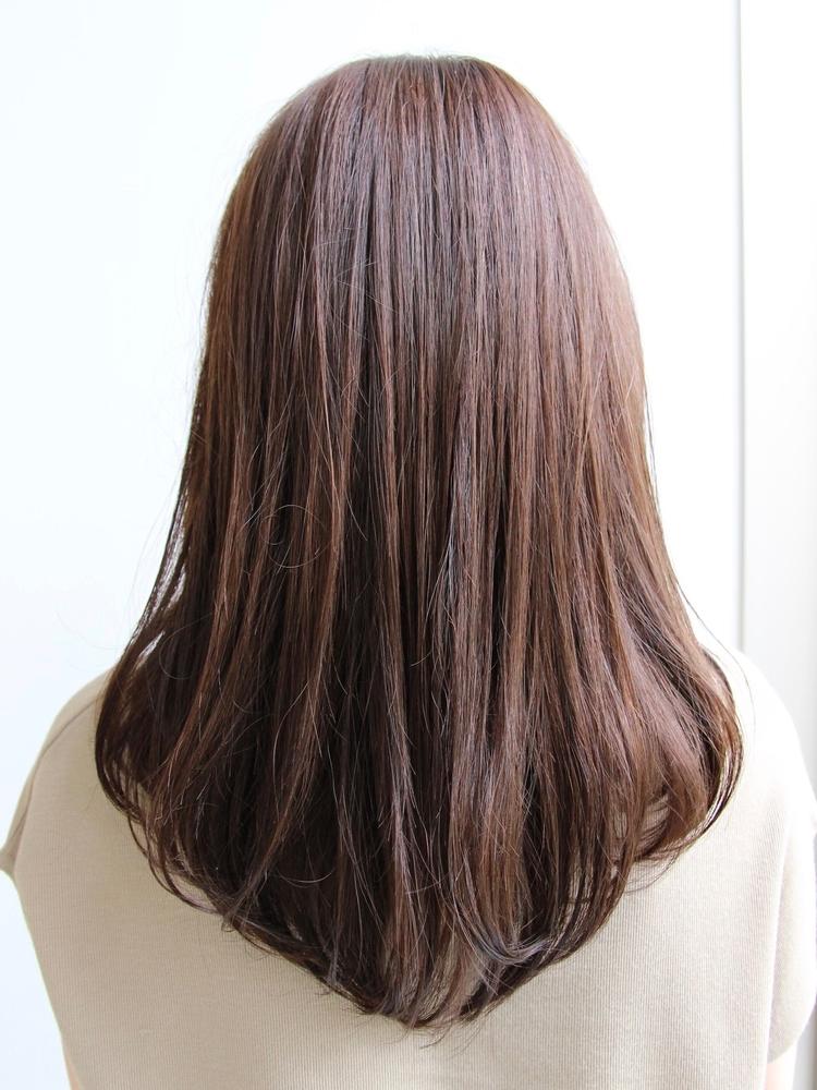 Agnos青山 美髪小顔ネイビーカラーブランジュマニッシュフレンチロング