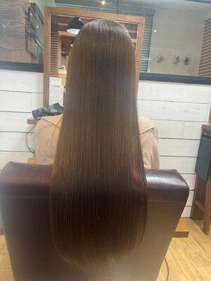 ナチュラルグレージュ+髪質改善トリートメント