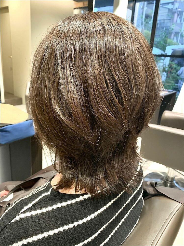 エアリーウルフベージュ♪通年人気なヘアスタイル!