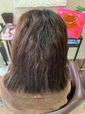 酸性縮毛矯正でまとまりのあるボブスタイル