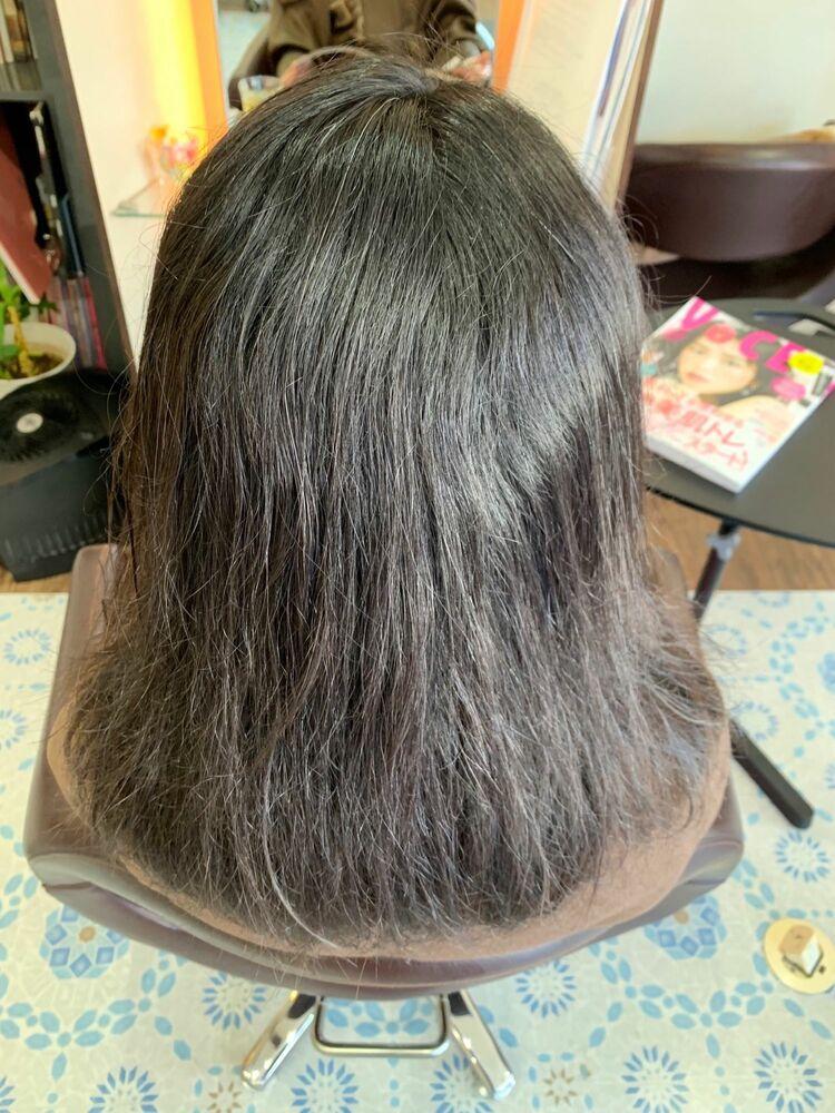 髪質改善縮毛矯正で自然な仕上がりに