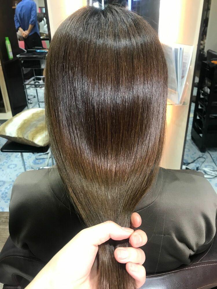 髪質改善縮毛矯正で理想のツヤ髪に