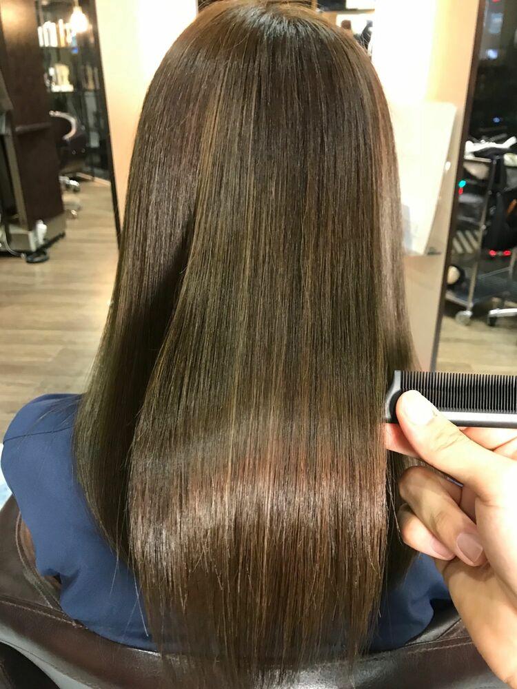 髪質改善縮毛矯正×ハイライトカラー