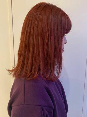 ビビットオレンジヘア