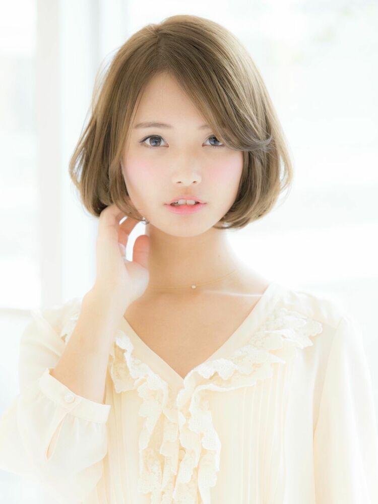 *Euphoria山村*ベージュカラーが大人可愛い前下がりボブig@miwako.yamamura