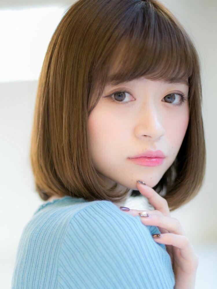 *Euphoria山村*ベージュカラーの小顔前下がりボブig@miwako.yamamura