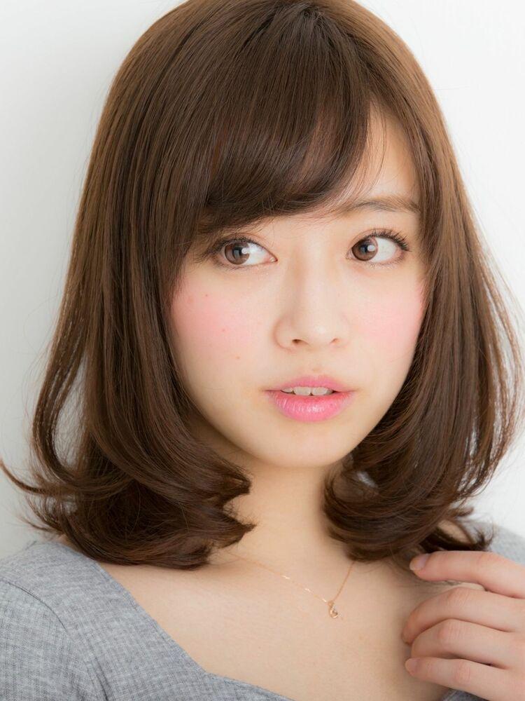 *Euphoria山村*ひし形シルエットが可愛い外ハネミディ ig@miwako.yamamura