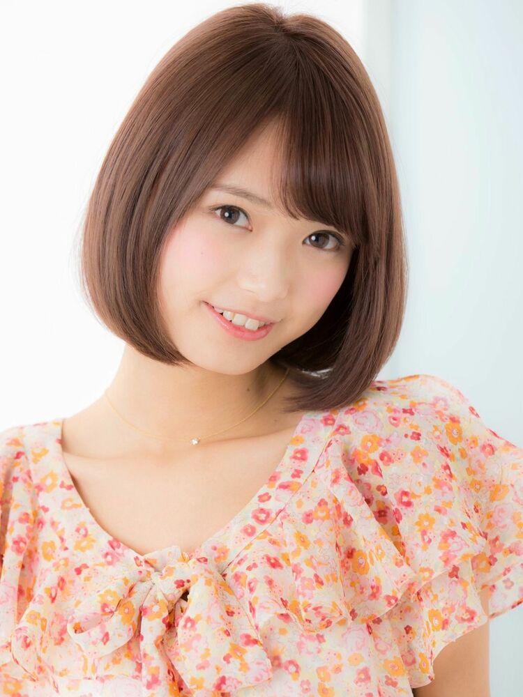 *Euphoria山村*ピンクベージュの小顔前下がりボブig@miwako.yamamura