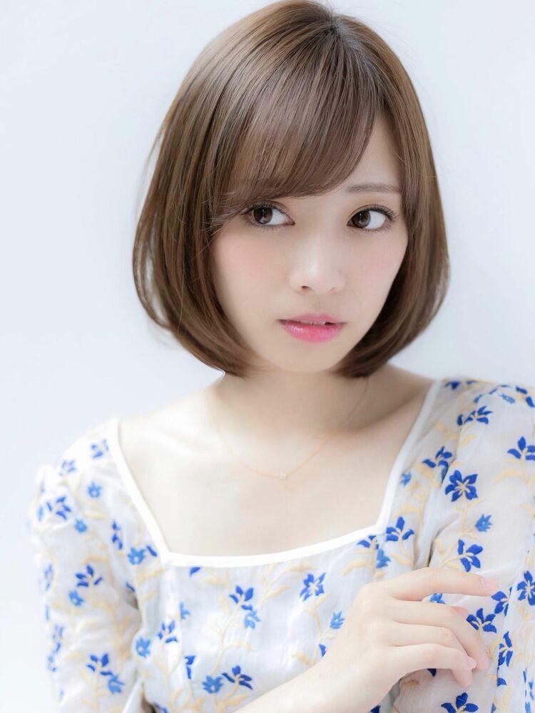 Euphoria山村*アッシュベージュカラーの小顔ナチュラルボブig@miwako.yamamura