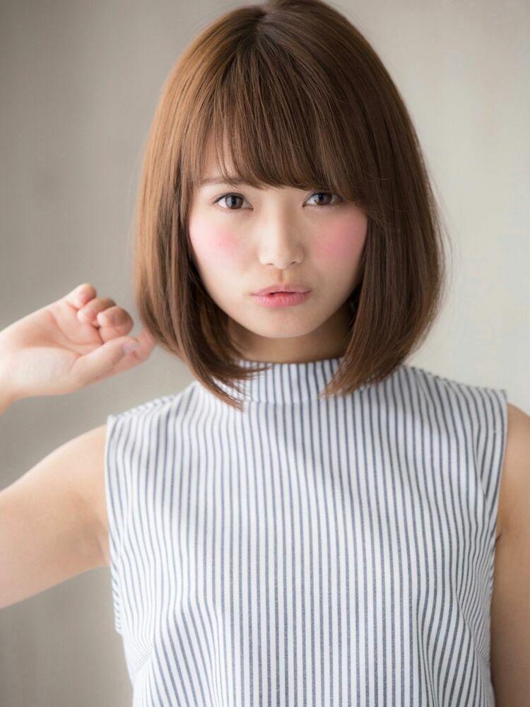*Euphoria 山村* 大人かわいい王道の小顔前下がりボブig@miwako.yamamura