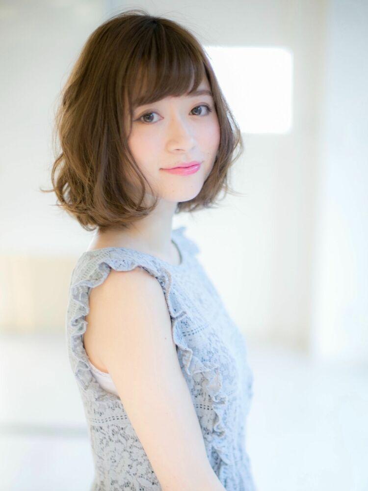 *Euphoria山村*大人可愛い小顔ゆるふわボブ ig@miwako.yamamura