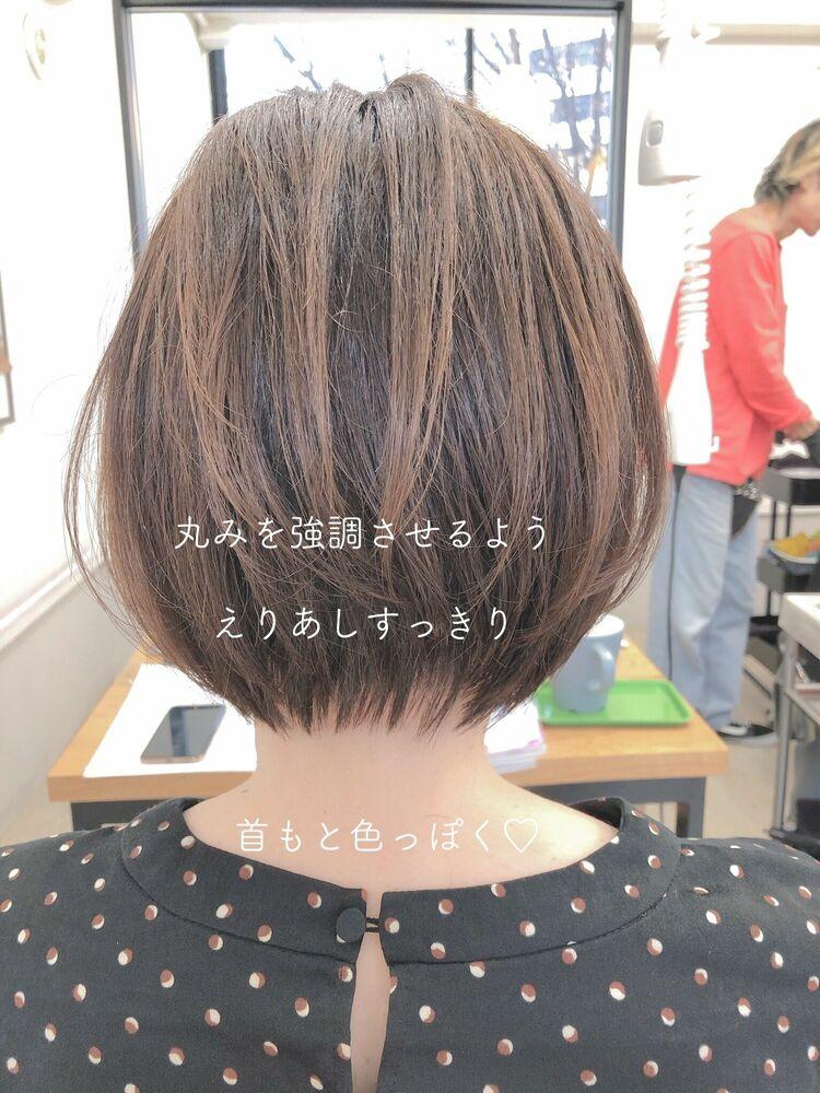 丸みナチュラルショート 宮崎えりな インスタも見てみて下さい☆→@miyazaki.erina