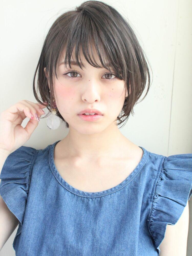 大人かわいい耳かけショートボブ 宮崎えりな インスタも見てみて下さい→@miyazaki.erina