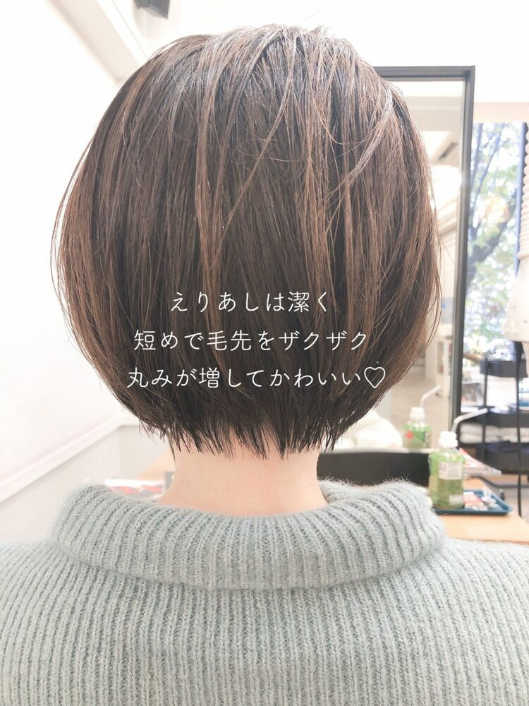 段差少なめ丸みショート☆宮崎えりな インスタ→@miyazaki.erina