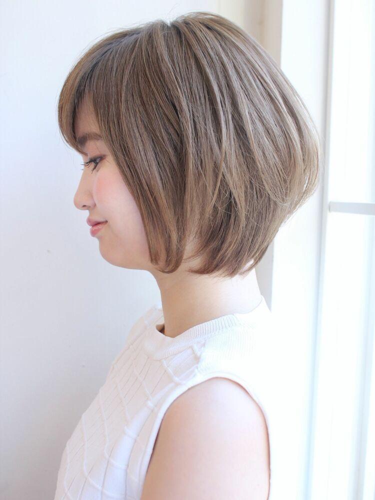 大人可愛いひし形ショートボブ 宮崎えりな インスタも見てみて下さい☆→@miyazaki.erina