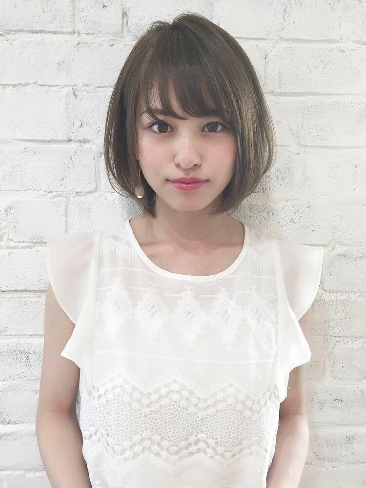 ひし形大人可愛いボブ 宮崎えりな インスタも見てみて下さい☆→@miyazaki.erina