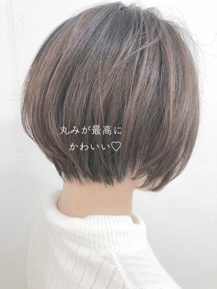大人可愛い丸みショート 宮崎えりな インスタも見てみて下さい☆→@miyazaki.erina