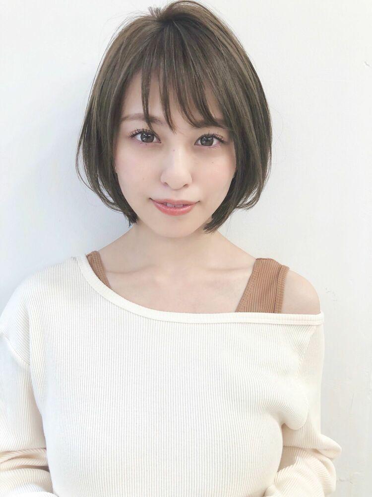 大人可愛いショートボブ 宮崎えりな インスタも見てみて下さい☆→@miyazaki.erina