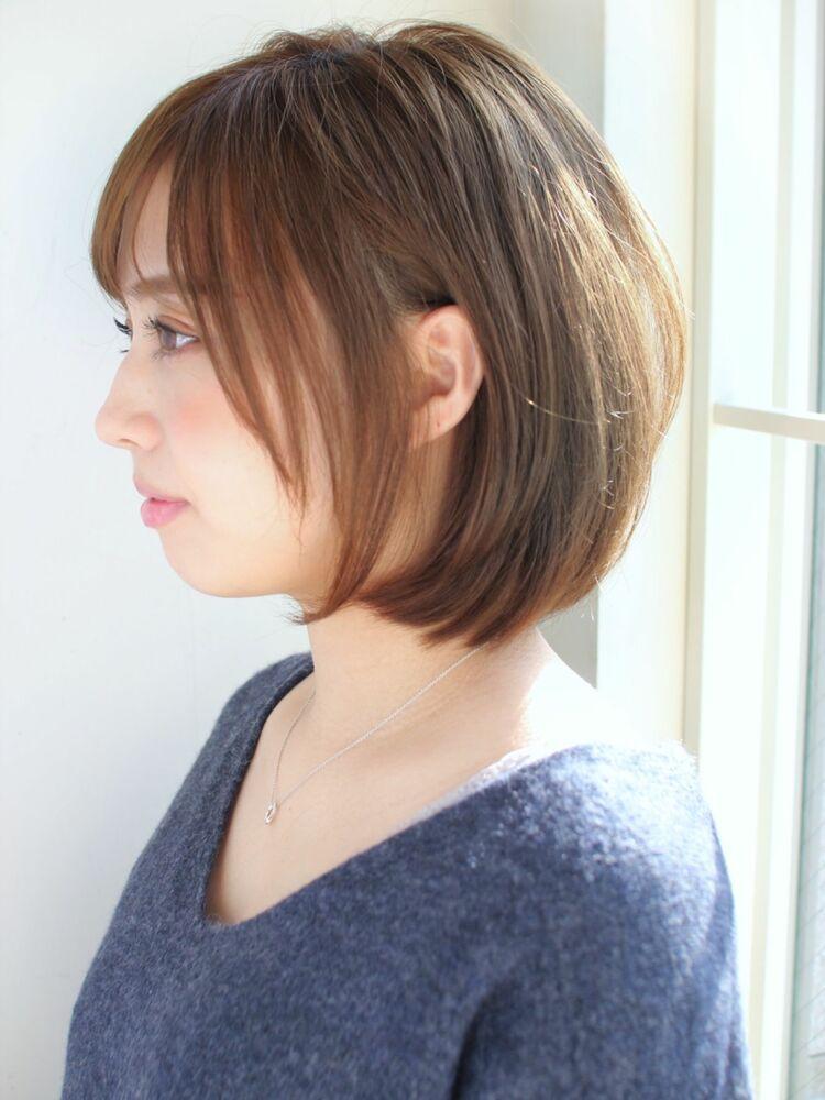 ひし形ミディアムボブ 宮崎えりな インスタも見てみて下さい☆→@miyazaki.erina