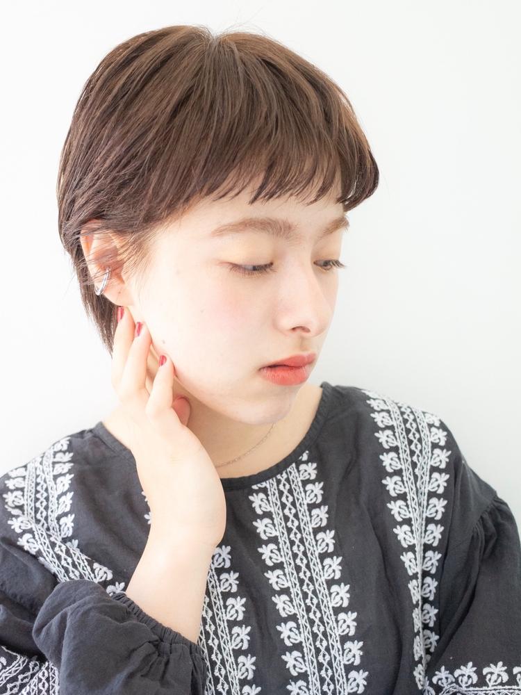 ナチュラルショートヘア!ショートオン眉前髪!!!