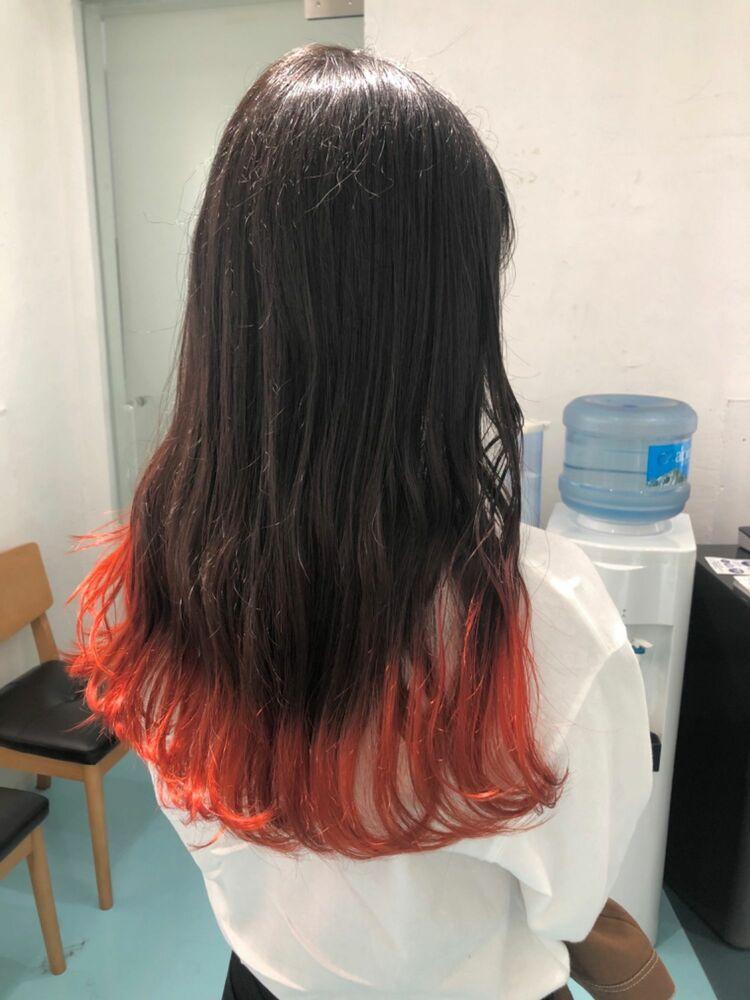 オレンジ裾カラー!