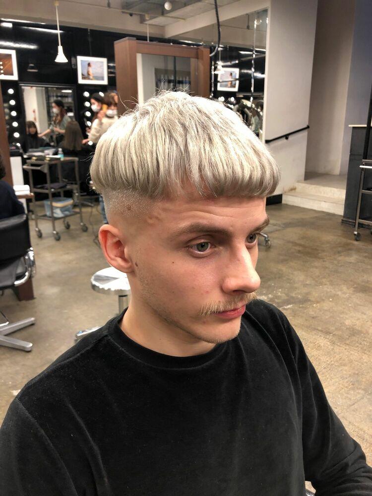 マッシュルームスキンフェード バーバースタイル barber fade