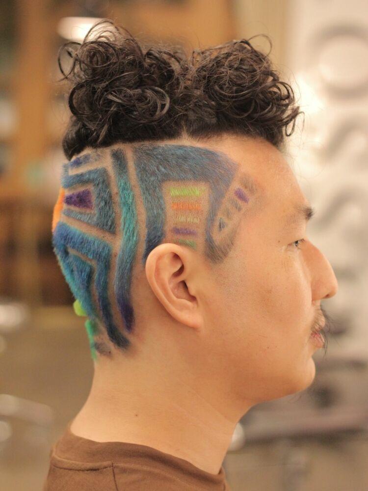 外苑前ASSORT TOKYO フェードカットができる美容室!「ヘアタトゥー」