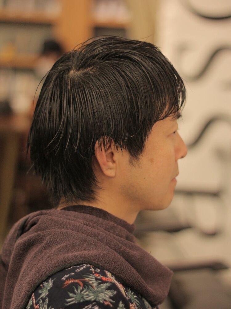 ビフォーアフター カットパーマ フェードカット スリックバック 外苑前美容室ASSORT TOKYO