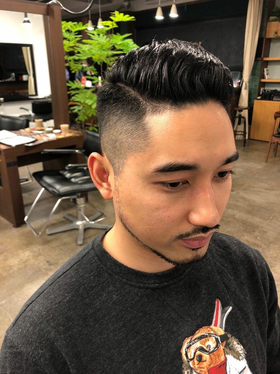 ASSORT TOKYO 杉山良平 フェードスタイル スリックバック 美容師のフェードカット
