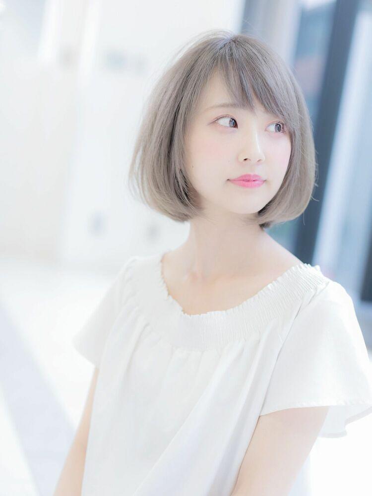 ホワイトグレージュボブ☆