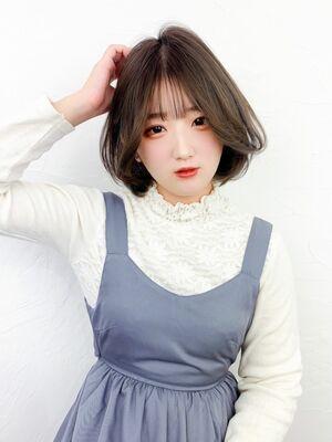 韓国っぽタンバルモリグレージュボブ