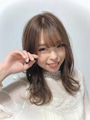 〜Euphoria〜外ハネ☆ゆるふわワンカール小顔ミディ☆愛されシフォンベージュ☆20代30代40代