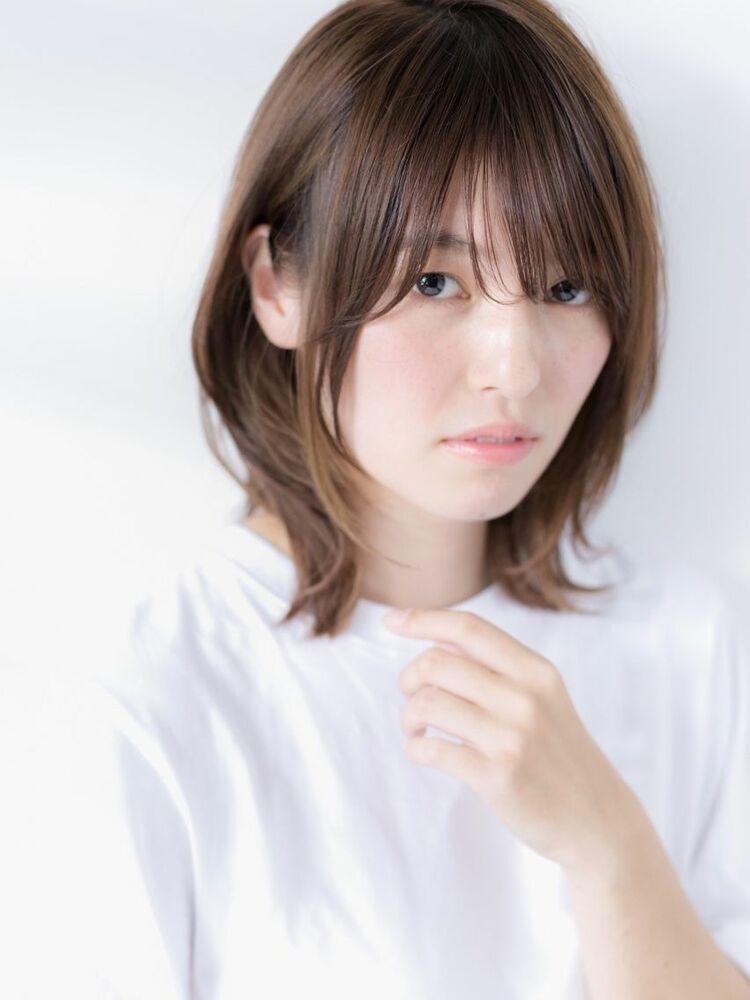 毛先ワンカール☆小顔くびれ ひし形ミディ☆20代30代40代