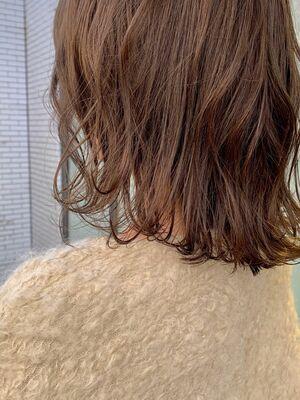 髪がやわらかくみえる☆まろやかベージュカラー☆#2020春夏#アッシュ系#バレイヤージュ