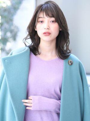 ミディアムのレイヤースタイル☆#2020春夏#アッシュ系#バレイヤージュ