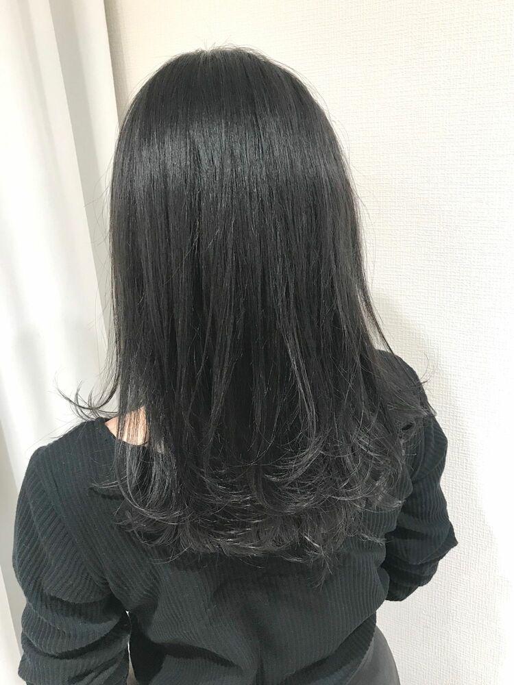 暗髪透明感地毛風セピアグレージュ