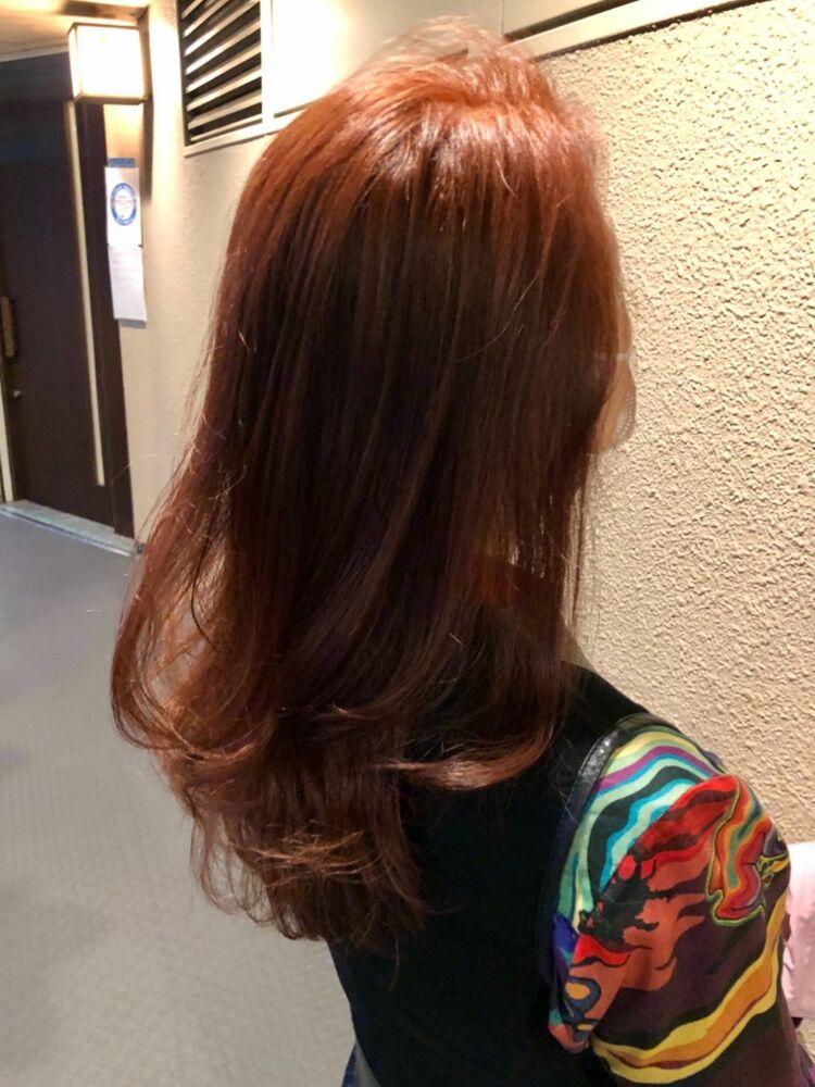 30代40代の方必見春髪 オレンジカラー
