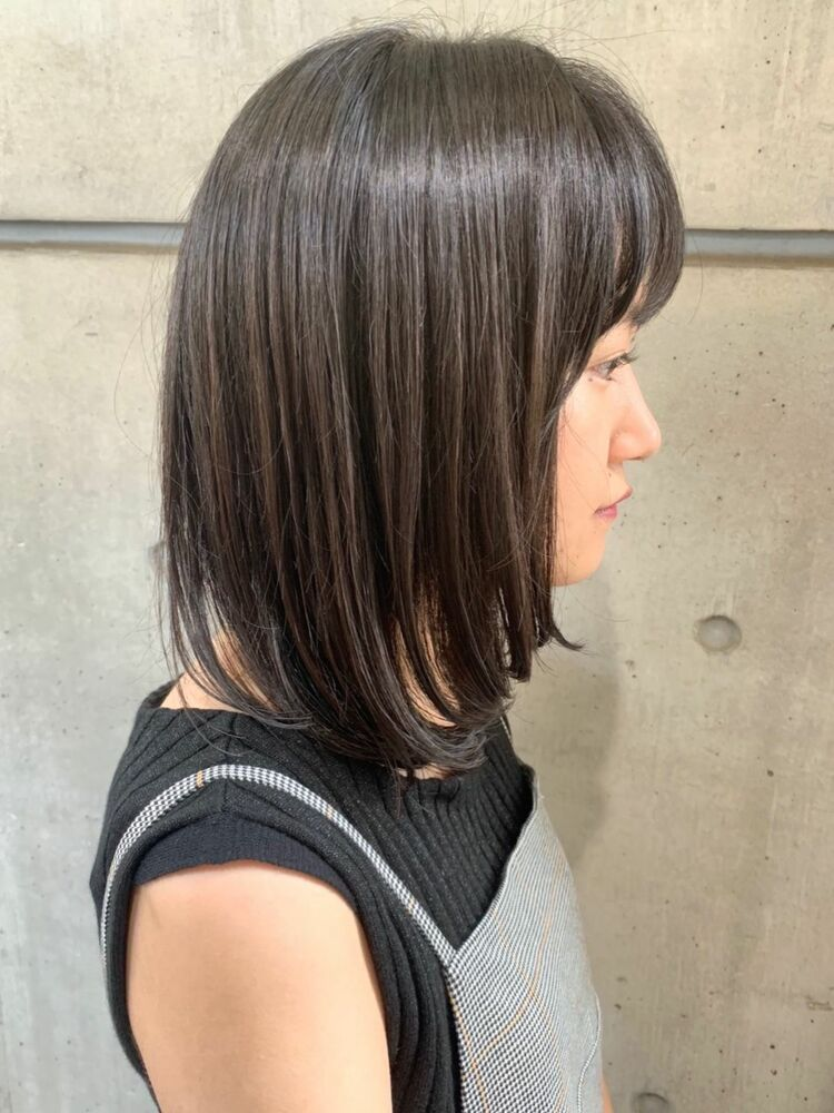 MINX青山*本木 ツヤのある美髪に ナチュラルストカール(根元 縮毛矯正 + 毛先 パーマ)