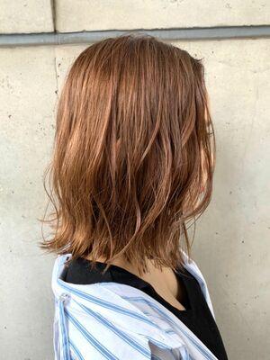MINX青山*本木 色っぽヘルシーヘア  ゆるウェーブミディアムボブ
