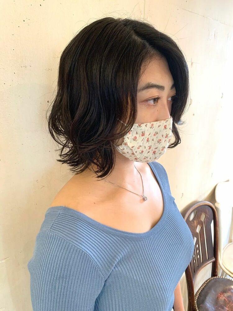 MINX青山*本木 大人可愛い コテ巻き風パーマボブ インスタ(@yoshihisa_motoki)