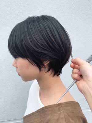 MINX青山*本木 大人可愛い カジュアル 黒髪マッシュショート