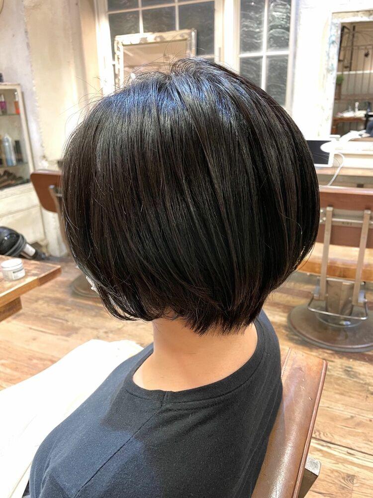 【本木】大人の黒髪美人ショート