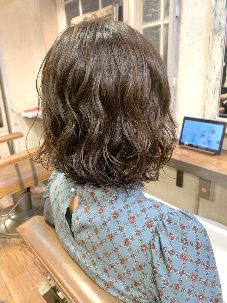 MINX青山*本木 ゆるふわコテ巻き風パーマボブ 簡単スタイリングヘア