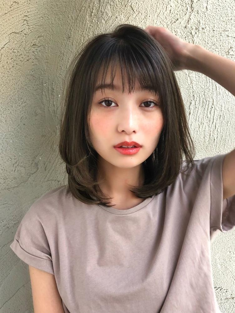 内巻き王道小顔ミディアム☆