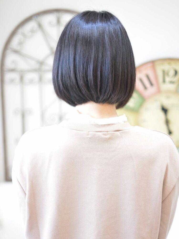 前下がり黒髪ショートボブ・インスタグラム @shiko_kajihara