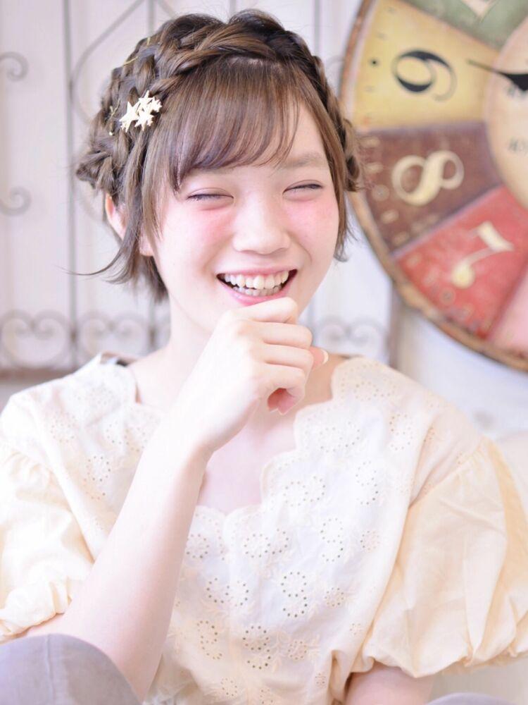 ショートのヘアアレンジ・インスタグラムID:shiko_kajihara
