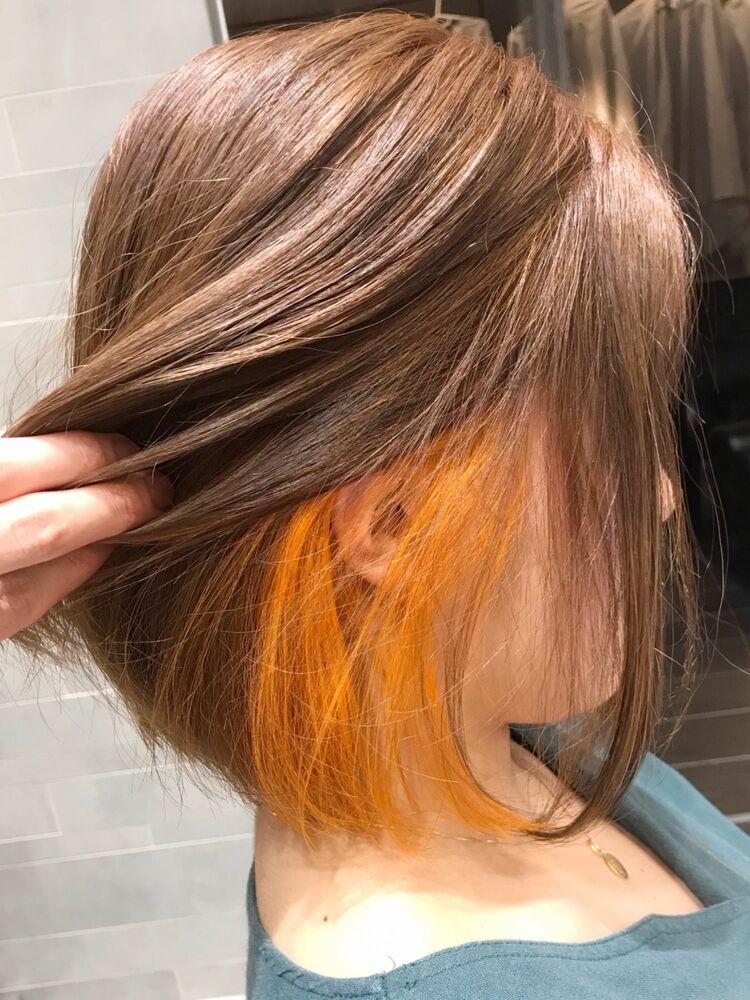 インナーオレンジ×ボブ