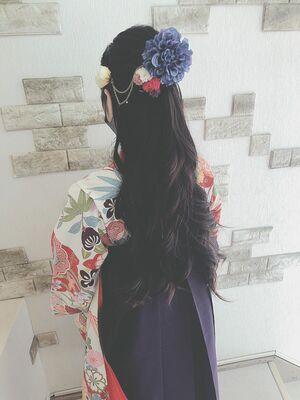 小学生卒業式の袴ヘアセット