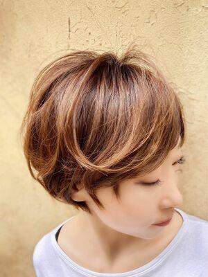 辺見えみり風!最新前髪長めショート