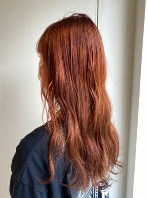人気のオレンジカラー◎ロングヘア